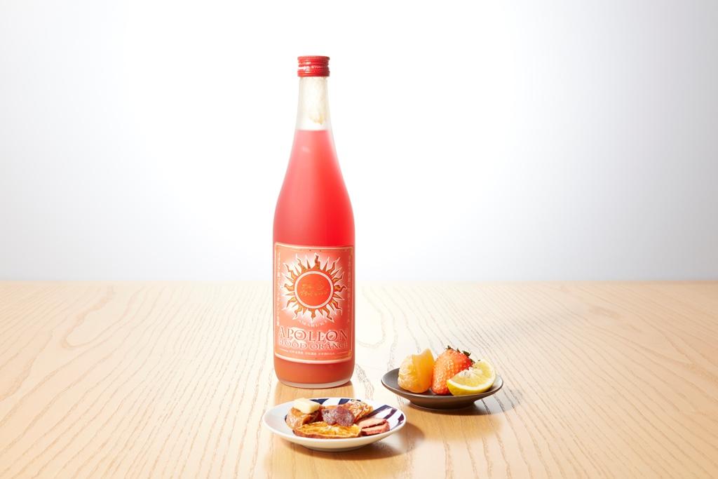 【組み合わせ】果実の入った梅酒×フルーツ(生・加工)盛りつけ集合_light